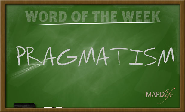 WORD FOR THE WEEK – PRAGMATISM