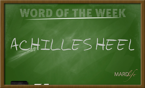 WORD FOR THE WEEK – ACHILLES HEEL