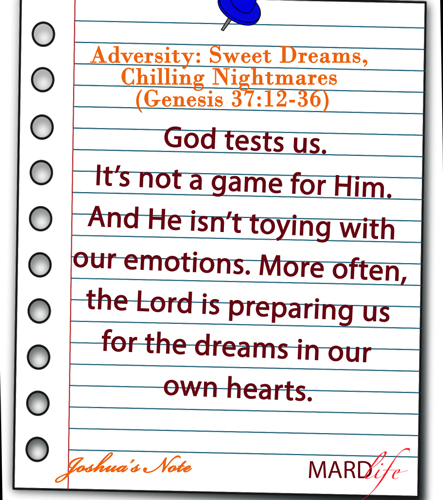 JOSHUA'S NOTE – Adversity: Sweet Dreams, Chilling Nightmares (Genesis 37:12-36)