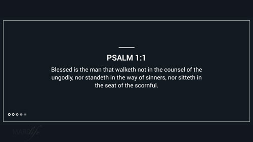 Verse Of The Day: Psalm 1:1-6