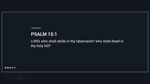 Verse Of The Day: Psalm 15:1-5