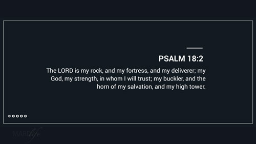 Verse Of The Day: Psalm 18:1-6