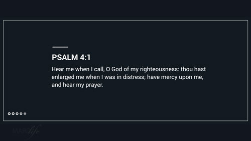 Verse Of The Day: Psalm 4:1-5