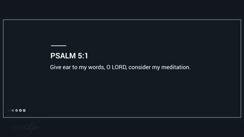 Verse Of The Day: Psalm 5:1-6
