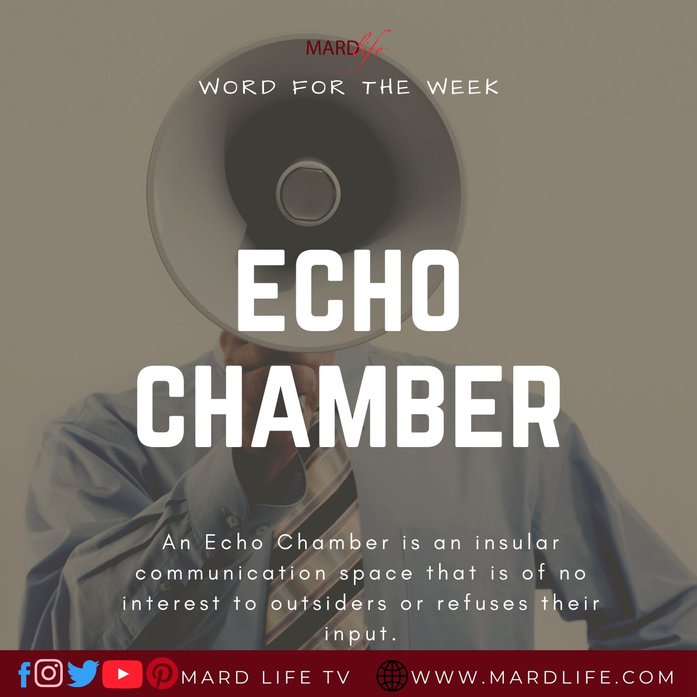 Echo Chamber (Word For The Week)