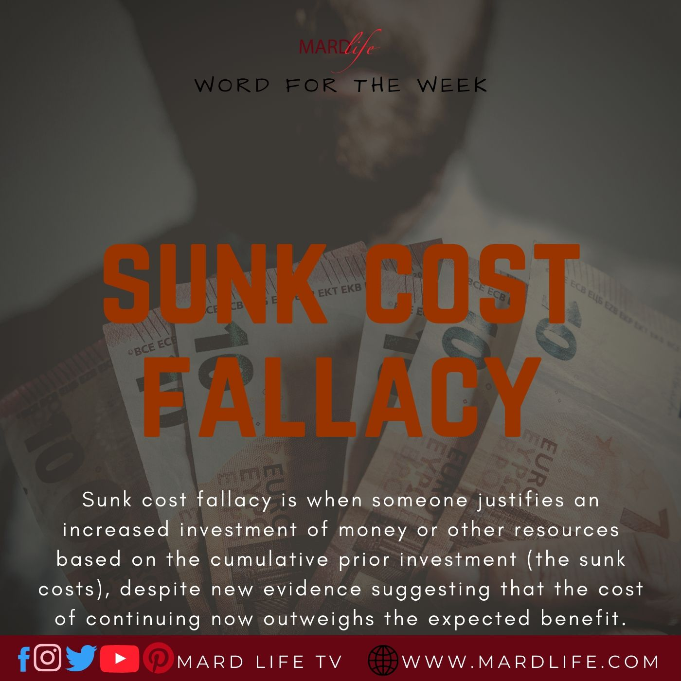 Sunk Cost Fallacy (Word For The Week)
