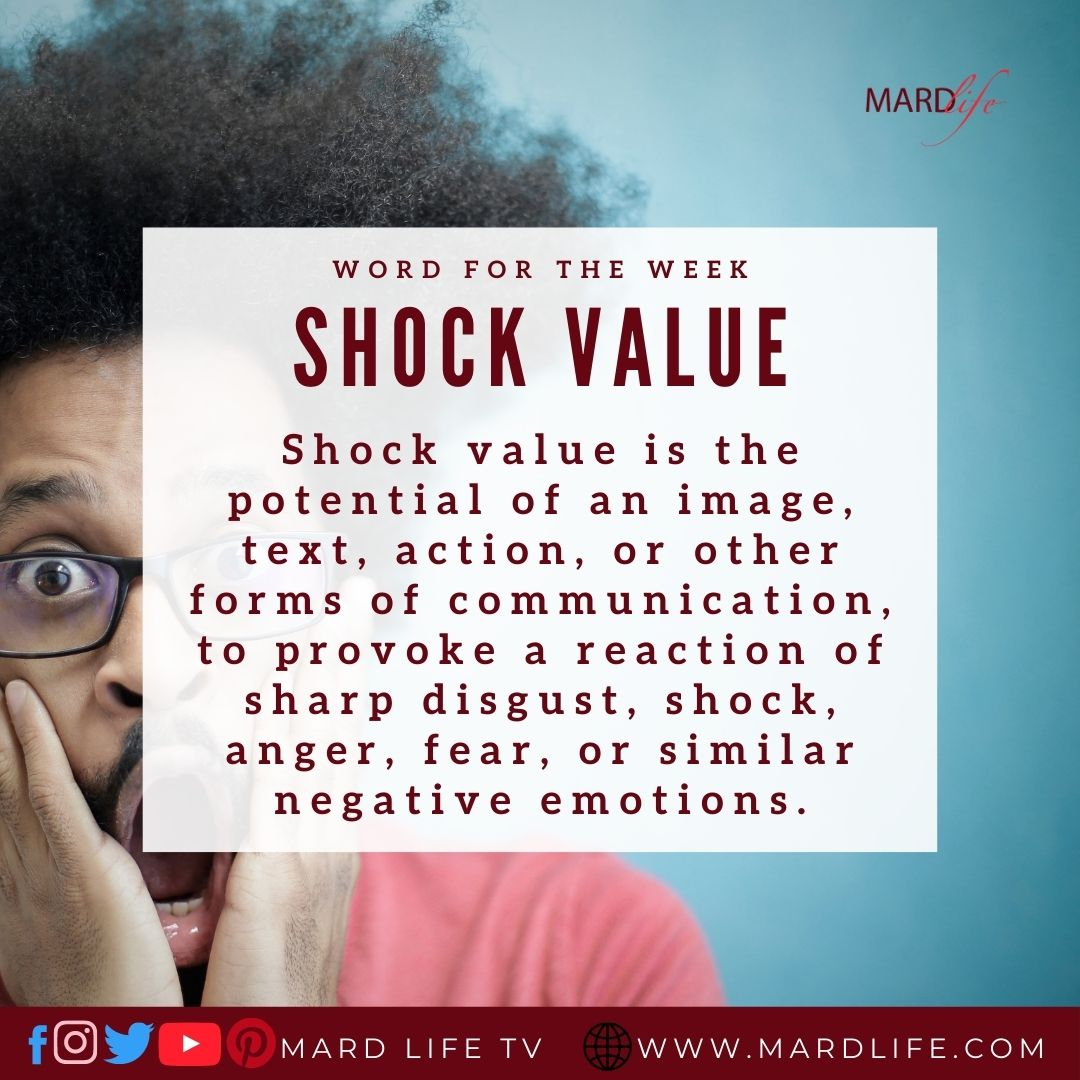 Shock Value (Word For The Week)