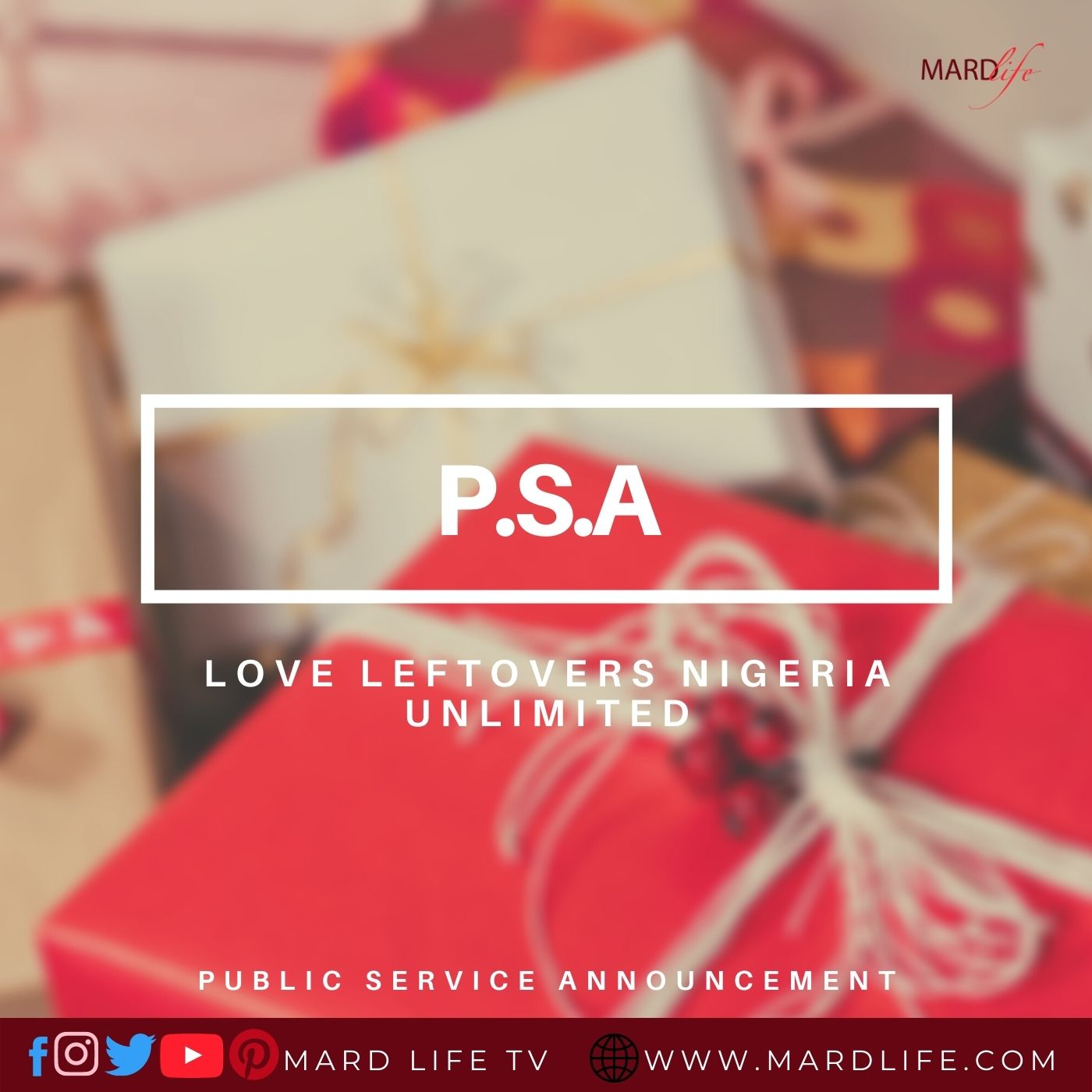 PSA: Love Leftovers Nigeria Unlimited