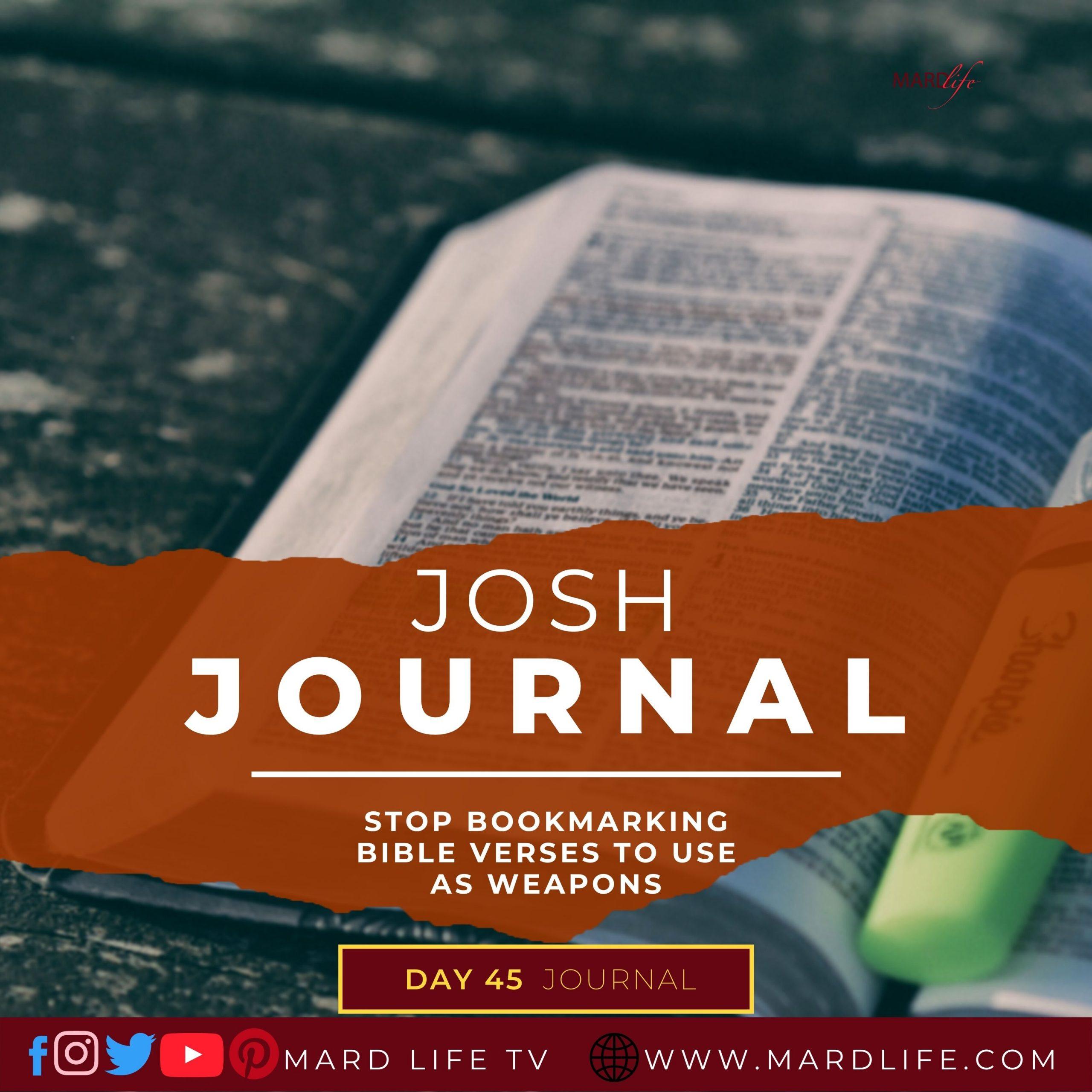 Stop Bookmarking Bible Verses To Use As Weapons – Josh Journal