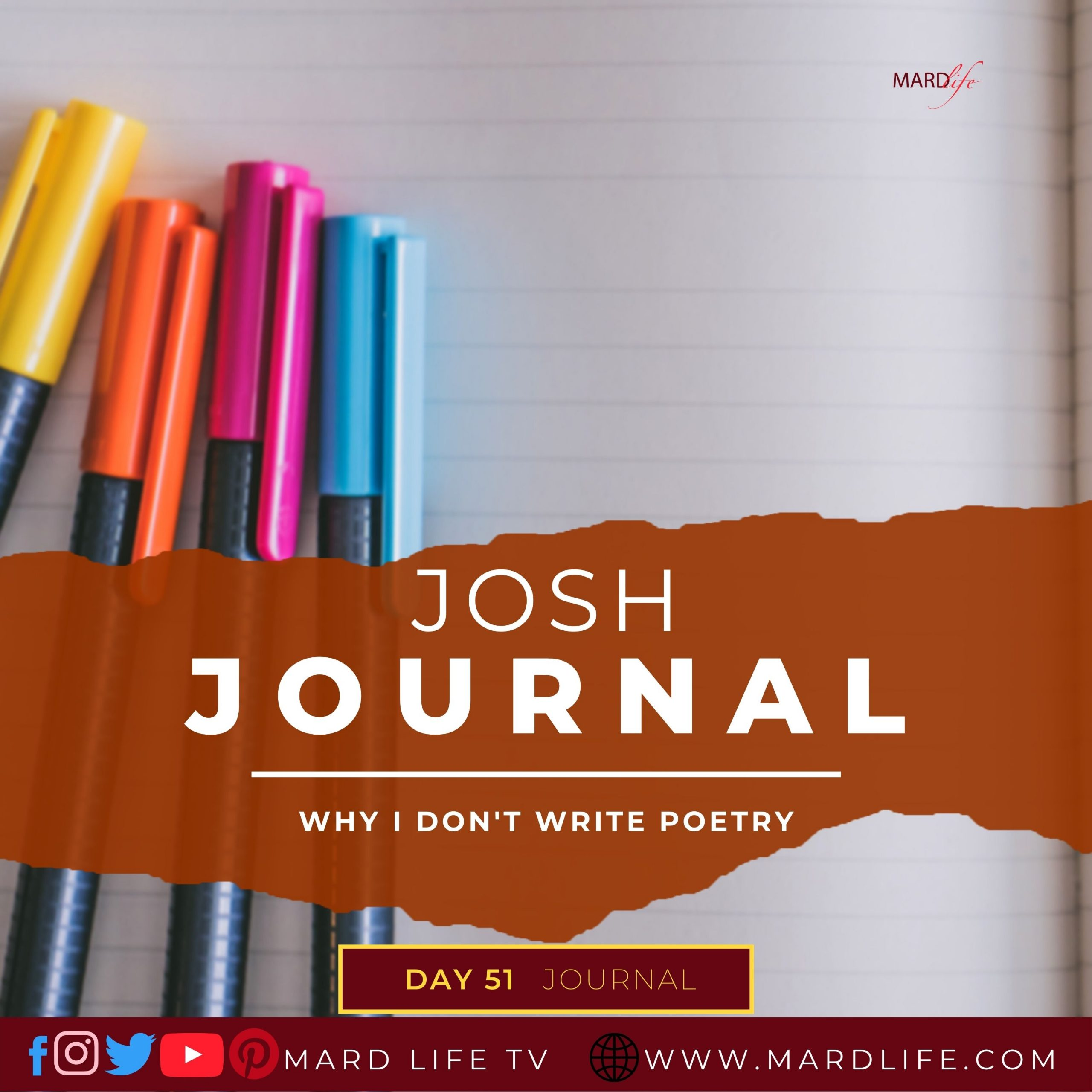 Why I Don't Write Poetry – Josh Journal